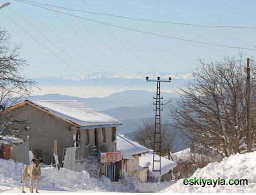 Eskiyayla köyünden bir manzara